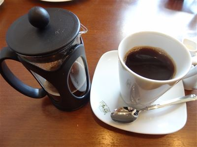 ランチにつけたコーヒー