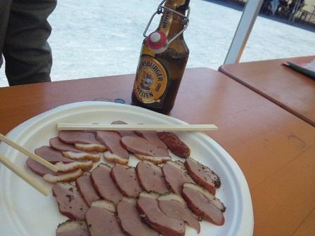 ビールと合鴨のスモーク