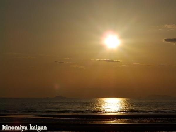 夕陽が・・