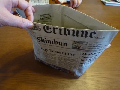 英字新聞で作るエコバック