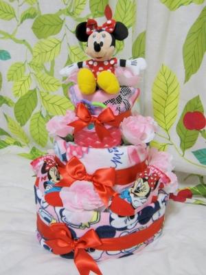 ミニーマウスおむつケーキ