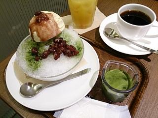 上島珈琲店 宇治抹茶のかき氷¥680