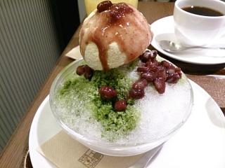 上島珈琲店 宇治抹茶のかき氷¥680a