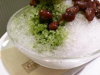 上島珈琲店 宇治抹茶のかき氷¥680aa
