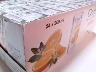 コストコ セレスオレンジ200ml×24¥1169