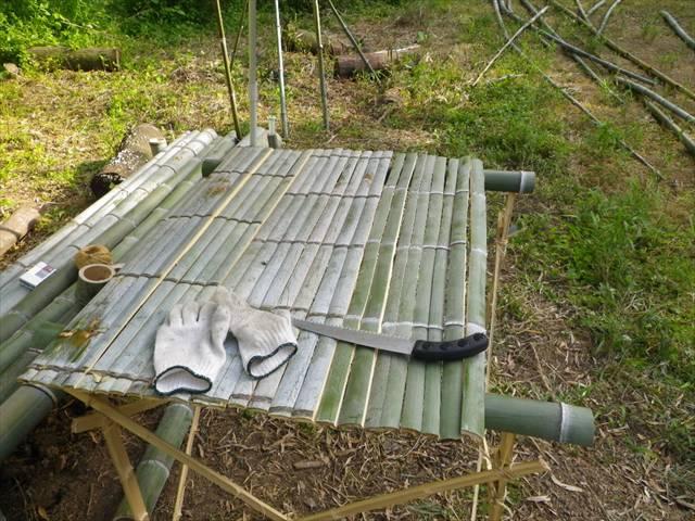竹で作るとなるとこうするしかないですよね~