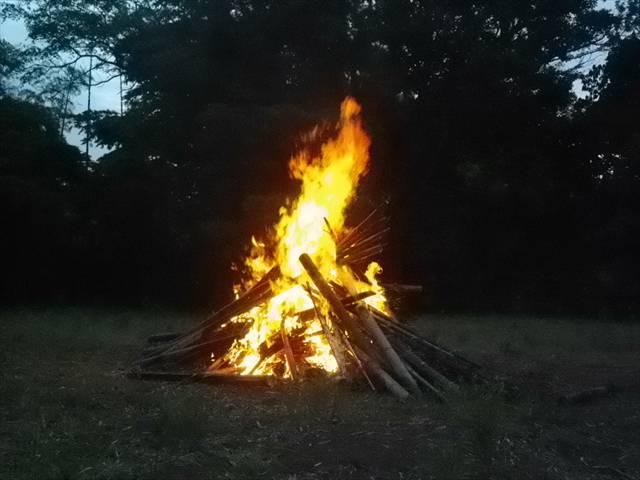 素晴らしい燃え具合!