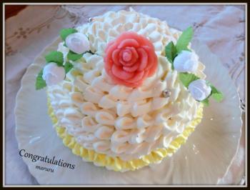 純白ドレスケーキ