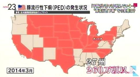 米国PED発生状況