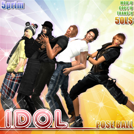 pose ball-idol