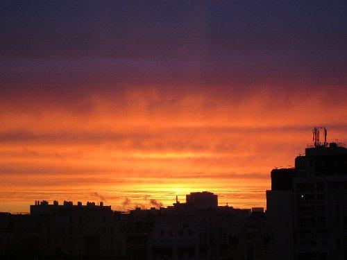 2014年2月27日朝焼け 003