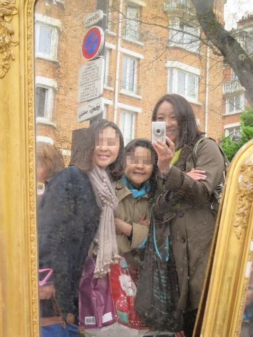 鏡の中の3人