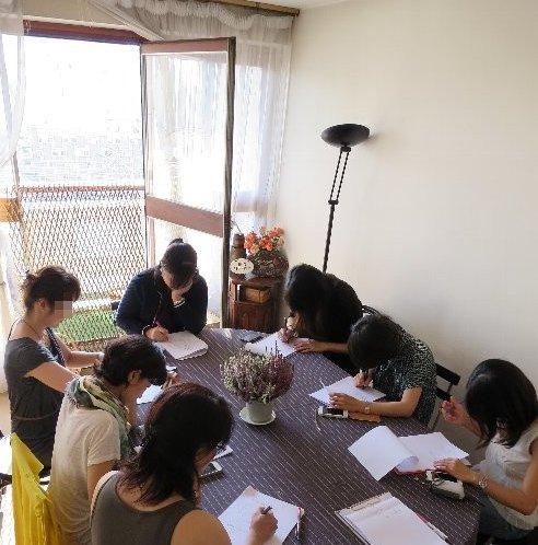 2014年10月3日テーブル勉強ちゅう
