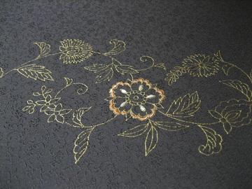 日本刺繍 金彩更紗3