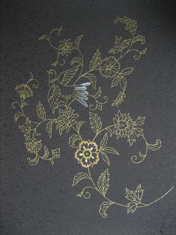 日本刺繍 お太鼓1