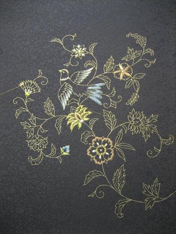 日本刺繍 お太鼓6