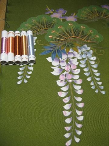 日本刺繍 あしらい 菅の落とし1