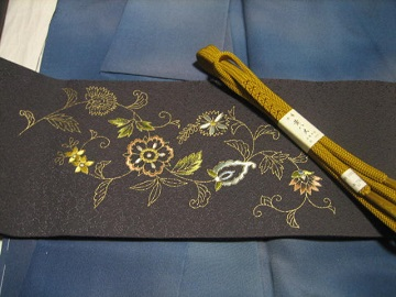 日本刺繍帯 完成2