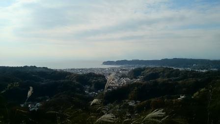 20141116⑤衣張山から逗子を見る
