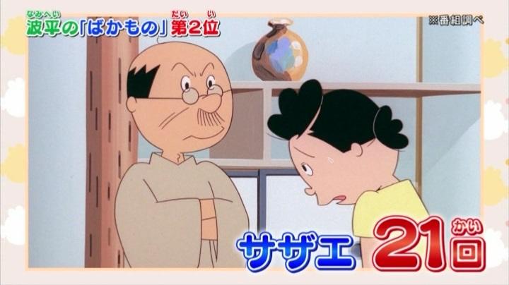 さよなら磯野波平【サザエさん】特集「バッカも~ん」2位はサザエ