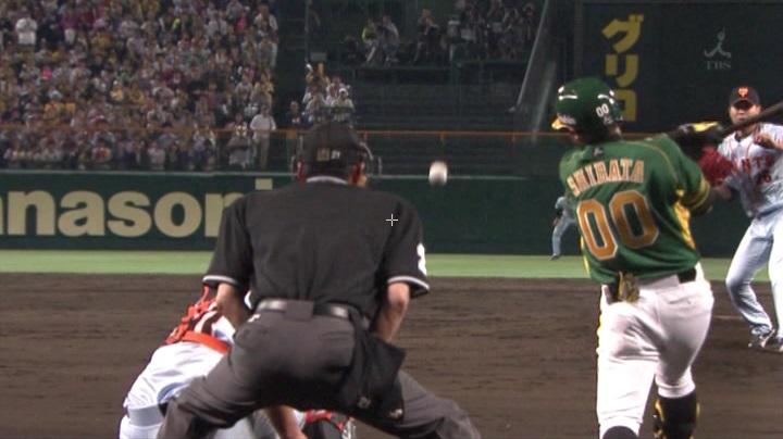 ウル虎、阪神がグリーンユニフォーム披露!(夜)柴田、勝ち越しタイムリー