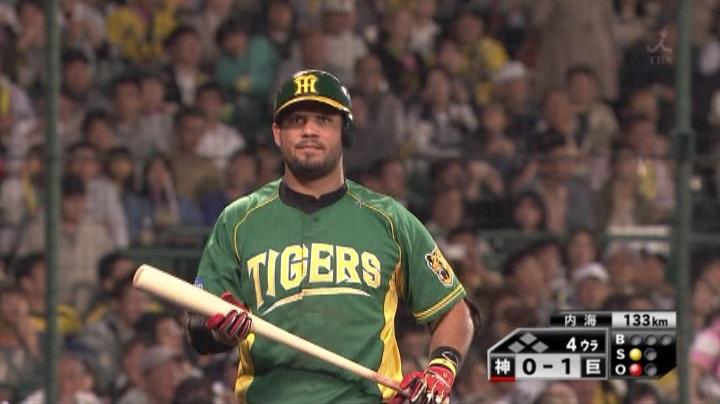 ウル虎、阪神がグリーンユニフォーム披露!(夜)ゴメス1