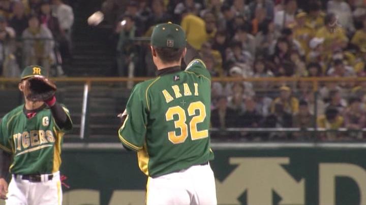 ウル虎、阪神がグリーンユニフォーム披露!(夜)新井良太5