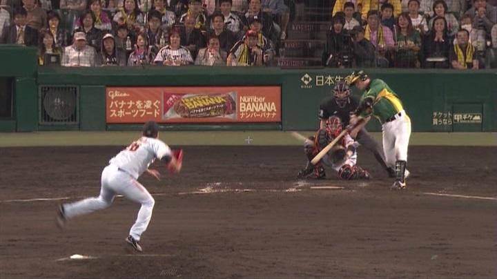ウル虎、阪神がグリーンユニフォーム披露!(夜)鶴岡3
