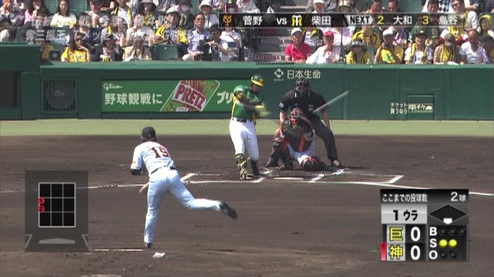 ウル虎、阪神がグリーンユニフォーム披露!(昼)柴田3