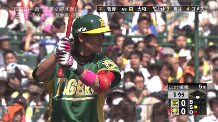 ウル虎、阪神がグリーンユニフォーム披露!(昼)大和2