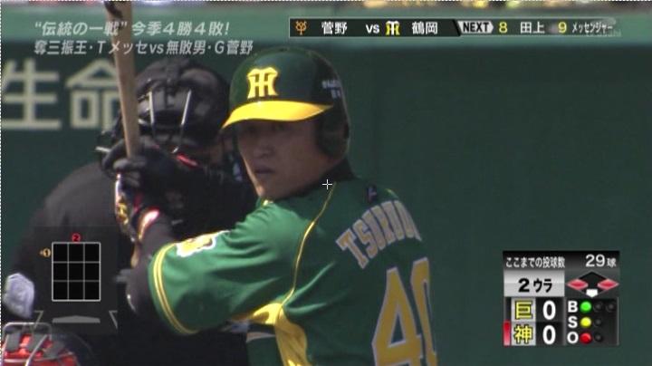 ウル虎、阪神がグリーンユニフォーム披露!(昼)鶴岡6