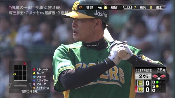 ウル虎、阪神がグリーンユニフォーム披露!(昼)福留3