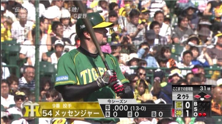 ウル虎、阪神がグリーンユニフォーム披露!(昼)メッセンジャー4