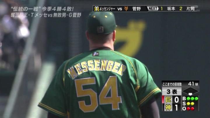 ウル虎、阪神がグリーンユニフォーム披露!(昼)メッセンジャー6