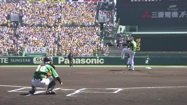 ウル虎、阪神がグリーンユニフォーム披露!(昼)メッセンジャー&鶴岡バッテリー