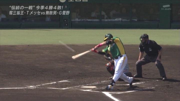 ウル虎、阪神がグリーンユニフォーム披露!(昼)ゴメスがヒットで出塁