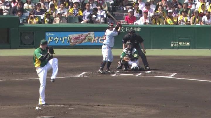 ウル虎、阪神がグリーンユニフォーム披露!(昼)力投するメッセンジャー