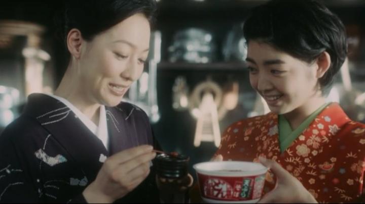 【メビウス】ミサキ女史どん兵衛CM第14弾!「風味にトコトン拘って(笑)」