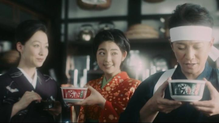 【メビウス】ミサキ女史どん兵衛CM第14弾!中居氏「ツユの上手さを引き立てる」
