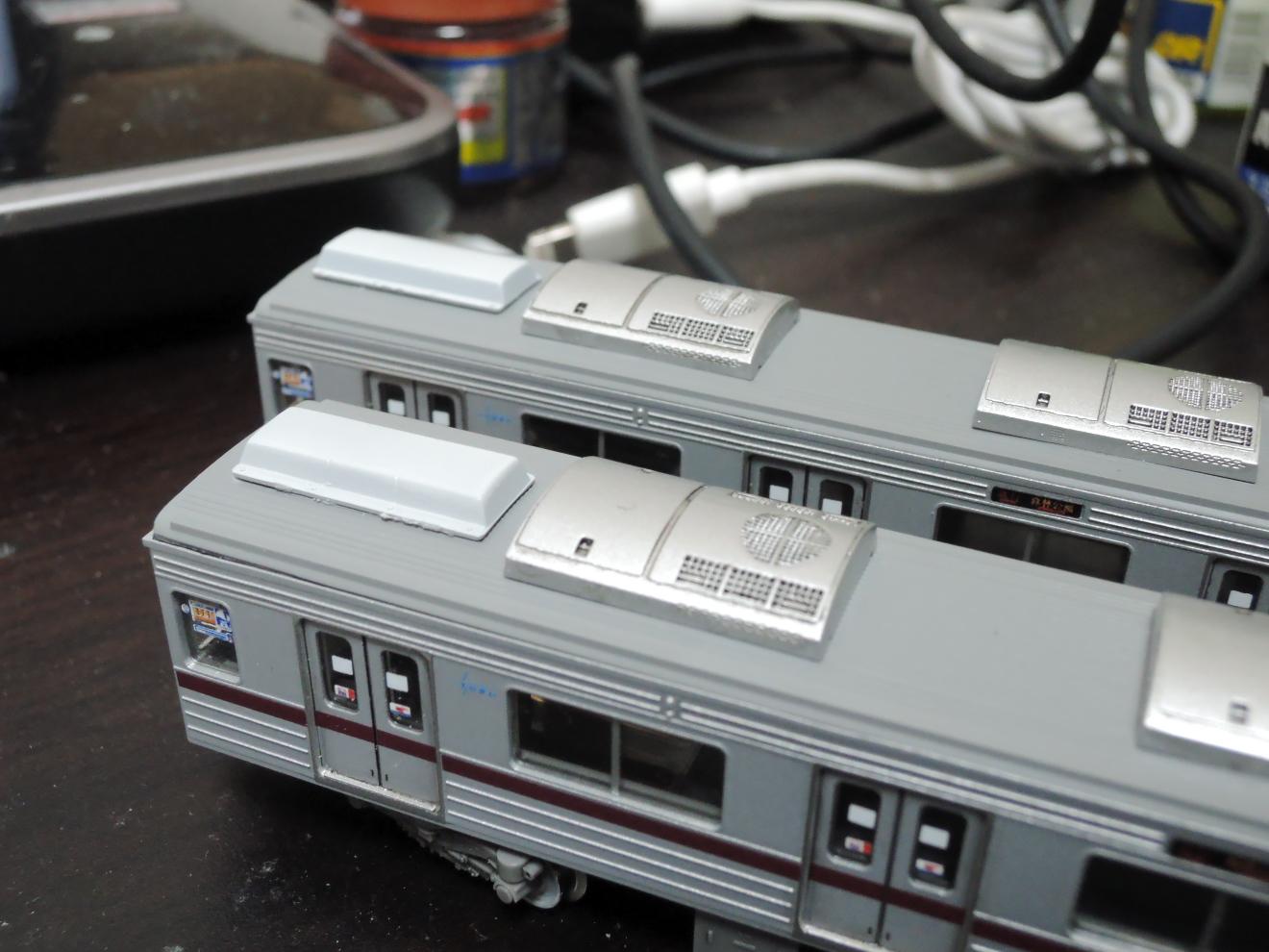 ラジオアンテナ塗装