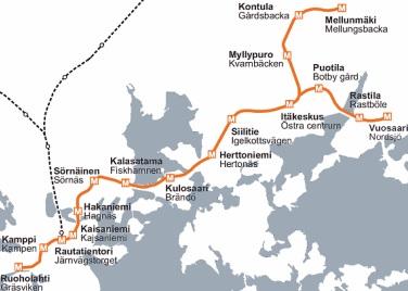 Helsingin metro kartta