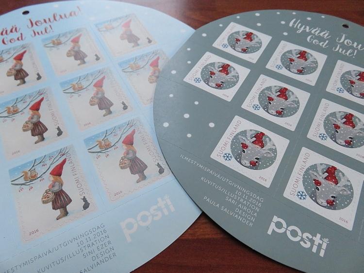 クリスマス切手 フィンランド Finland Christmas stamps 2016