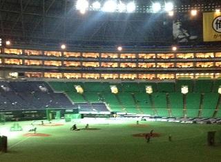 球場整備。