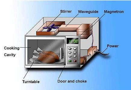 電子レンジの基本構造