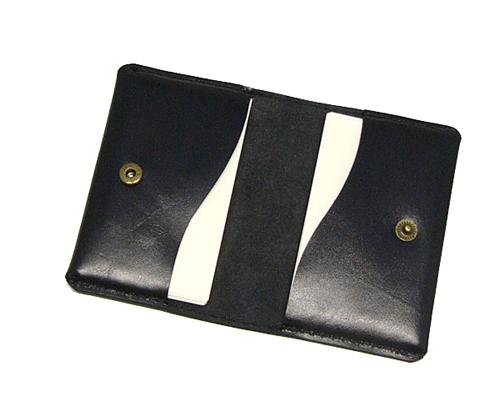 二つ折り名刺ケース/牛/ 黒002