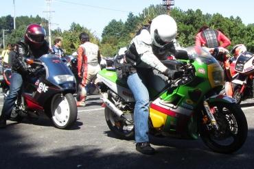Kawasaki KR-1 ジレラ125CX 宮ヶ瀬ミーティング2014 NS・MVX合同ミーティング夏の陣