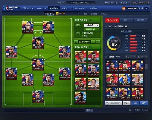 本格サッカーシミュレーションゲーム『FOOTBALL DAY:フットボールデイ』