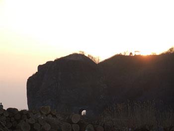 20140329_判官岬と夕陽1