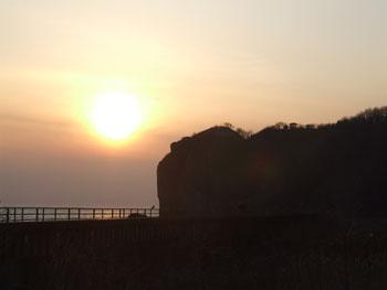 20140329_判官岬と夕陽2