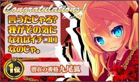 きゅうび1位BG